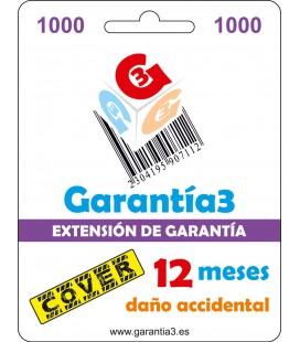 GARANTÍA3 COVER HASTA 1000 EUROS