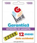 GARANZIA 3 COPERTURA FINO A 1000 EURO - 12 MESI DANNI ACCIDENTALI