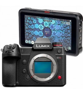 Cámara Panasonic Lumix S1H + Dispositivo de video Atomos Ninja V