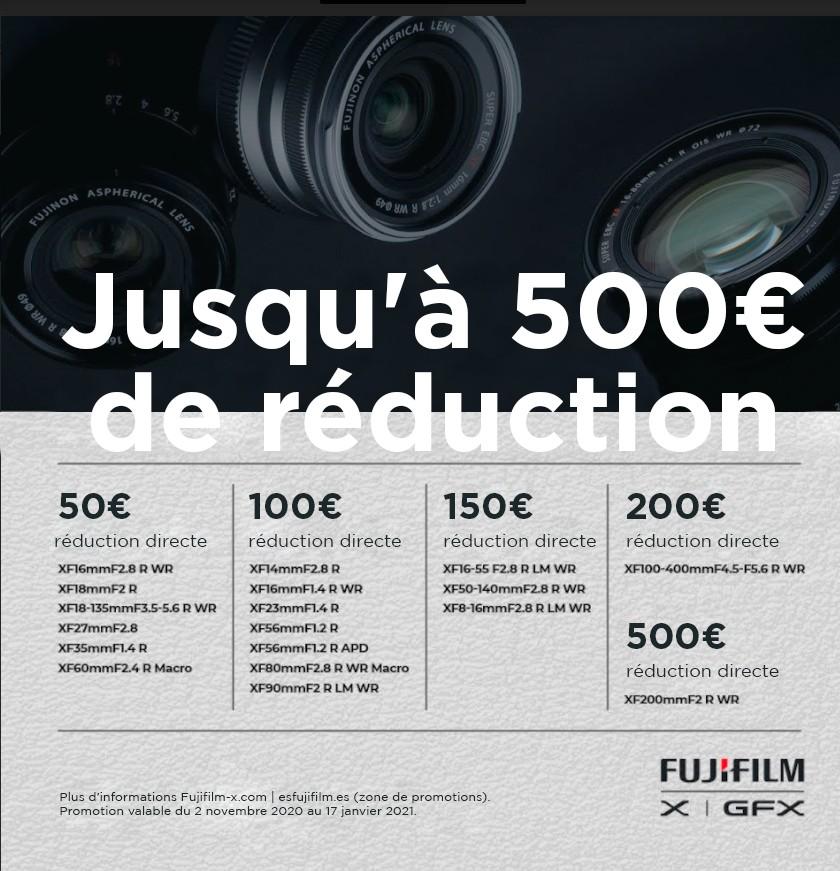 FUJIFILM 500€ DESCUENTO OBJETIVOS